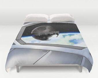 Star Wars Duvet Cover / Death Star Duvet Cover  / StarWars bedroom