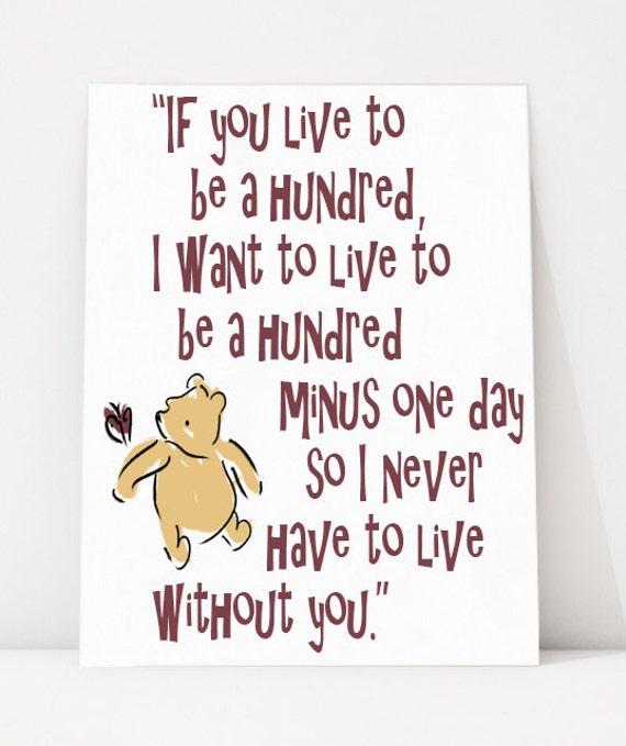 Winnie The Pooh Quote Art: Winnie-the-Pooh Quote Wall Art Art Print Disney By