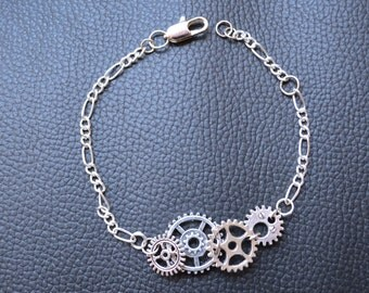 Wristband Steampunk Silver color