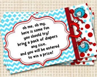 Dr Seuss Thing 1 Thing 2 Diaper Raffle