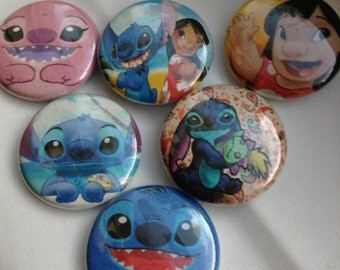 Lilo And Stitch Pin buttons Set 1""