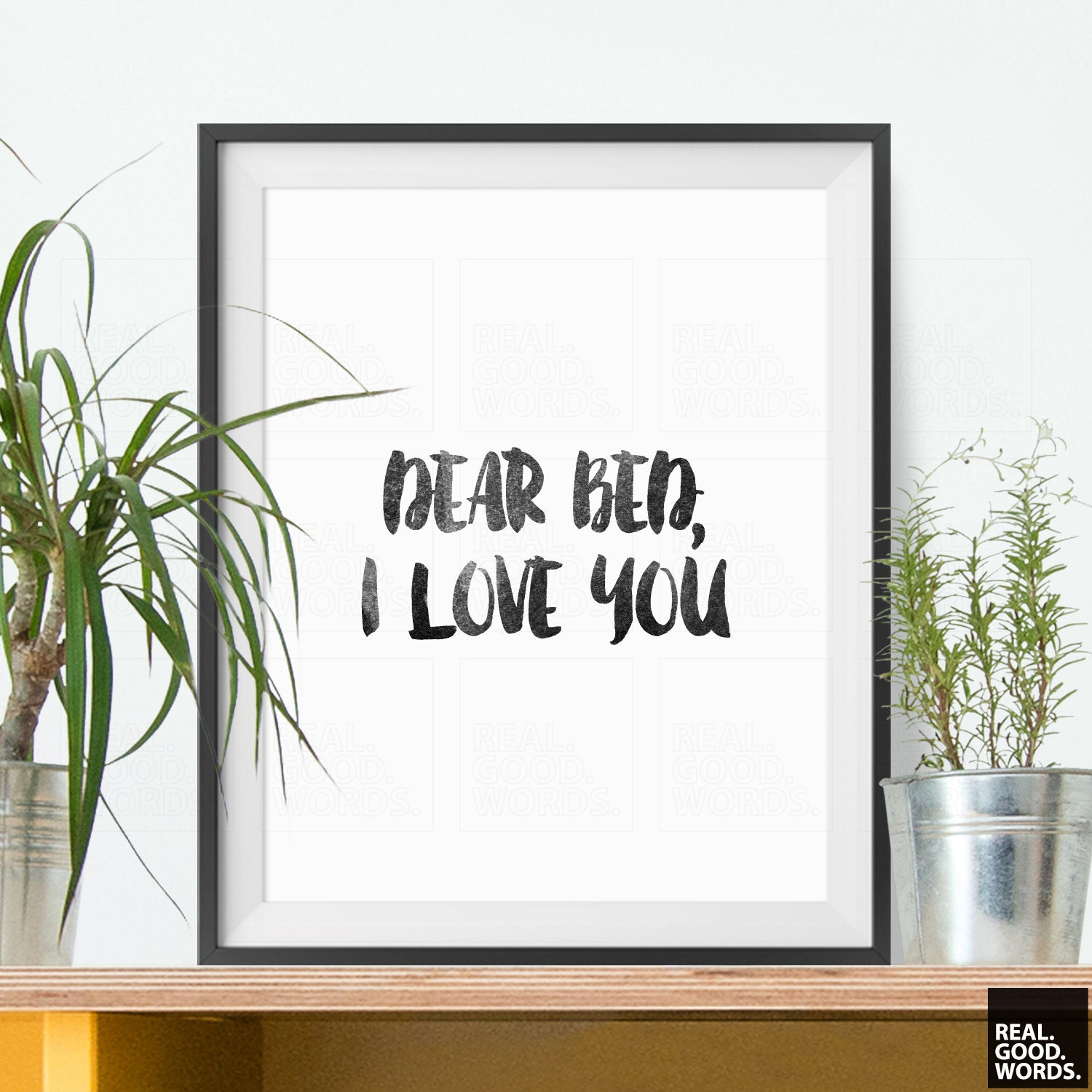 Bedroom Decor Gift For Friend Humorous Art Dear Bed I Love You