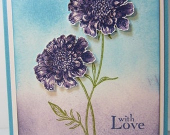 Handmade Dimensional Flower Card