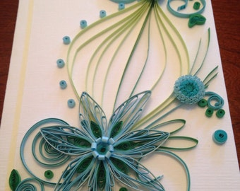 Paper quilled card