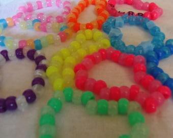 Set of 20 glow in the dark bracelets
