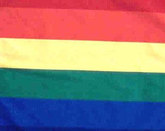 """BANDANA - Bandanna. Shiny POLYESTER Bandana. Gay PRIDE Rainbow. 22"""" x 22"""" tn"""