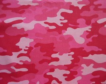 Camo cotton fabric fat quarter  1/4 yard or 1/2 yard choose color