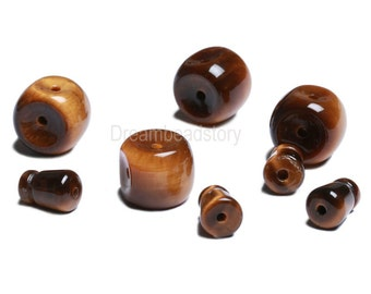 Tibetan Prayer Jewelry Making Supplies, 12 14mm Brown Guru Beads