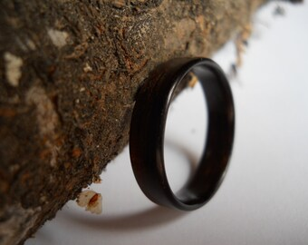 custom makassar ebony bentwood ring, handmade