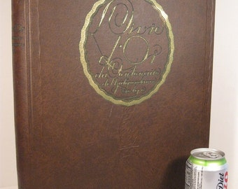 RARE UNIQUE Livre d'Or (Golden Book) 100 Years Belgian Independence 1930 Rare Illustrated Europe History Royalty Illustrated HUGE Hardback