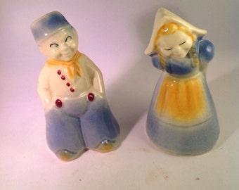 Shawnee dutch girl and boy salt and pepper shakers