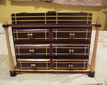 Wooden 6 drawer jewelry box