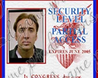 National Treasure ID Badge - Benjamin Gates [Screen Accurate] - Printed/Laminated