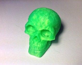 3D Printed Celtic Skull (Transparent Green)