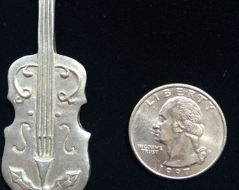 Pewter Violin Necklace