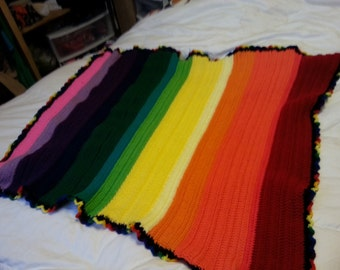Over the Rainbow Toddler Throw