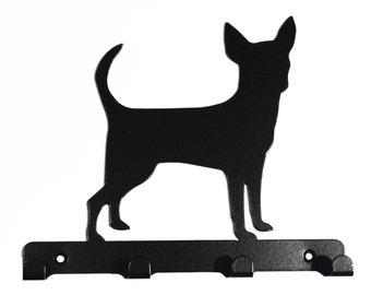 Chihuahua Silhouette Key Hook Rack - metal wall art