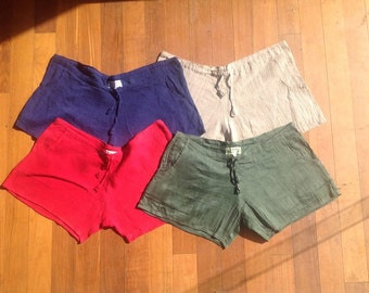 Handwoven Womans Bedroom Hemp Shorts