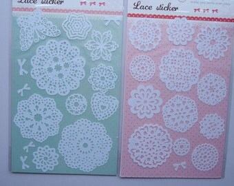 Cute White Lace Adhesive Tape