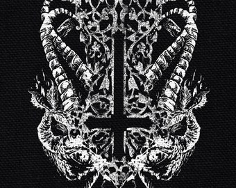 Inverted Cross Satanic Patch