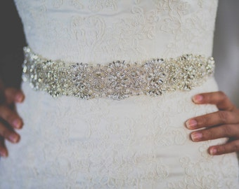 bridal sash, bridal belt, white sash, ivory sash, sash for wedding dress