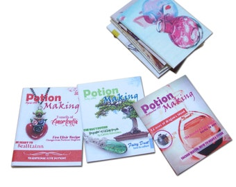 Potion Making - Dollhouse Miniature Magazines - Set of three - Harry Potter inspired