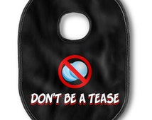 """Sexy Mens Underwear, Personalized Gifts For Him, (Penis Bib) Funny , Unique Mens Gift  """"Don't Be A Tease"""" CockBib"""