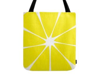 Lemon tote bag Lemon bag Lemon canvas tote bag shopping bag shopping canvas yellow shoulder bag yellow canvas bag yellow tote bag yellow bag