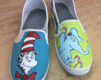 Hand painted Dr. Seuss characters