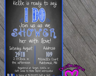 Bridal Shower Invite Something new, old, borrowed & blue