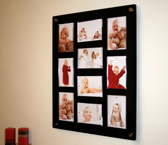 Acrylic Large High Gloss Magnetic Wall Mount Picture Frame For