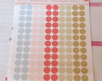Shabby Chic Small Circle Planner Stickers