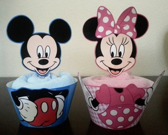 Mickey Mouse and Minnie Mouse Cupcake Wrapper by ...
