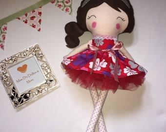 Beautiful handmade modern rag doll