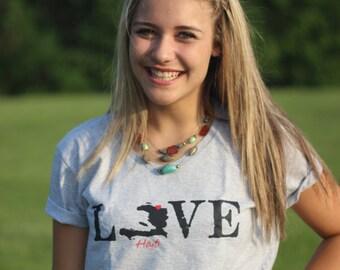 Ladies Love Haiti T-shirts