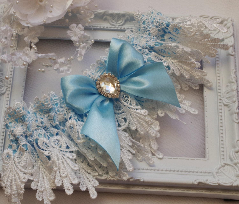 Blue Garter Blue Wedding Garter Blue Lingerie Garters Bridal