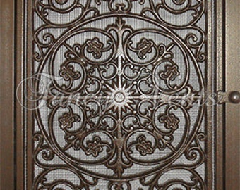 Decorative Cast Iron Vent Cover - 20 x 30 Traditional