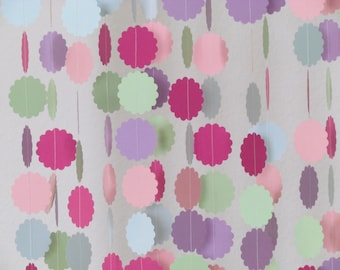 1.5 In. Pastel Multi Colored Garland