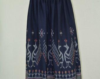 Hand woven skirt, Long skirt, Maxi skirt, Boho skirt, Boho Maxi skirt, Multi-color skirt, Long cotton skirt, Full length skirt, M17