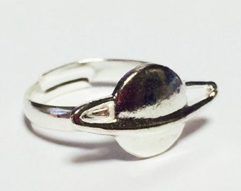 Silver Saturn Ring, Planet, Spase, Jewelry, galaxy,