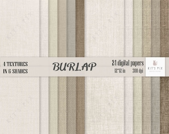 Burlap digital paper, burlap background, linen canvas textures. Textured scrapbook paper burlap background, commercial use