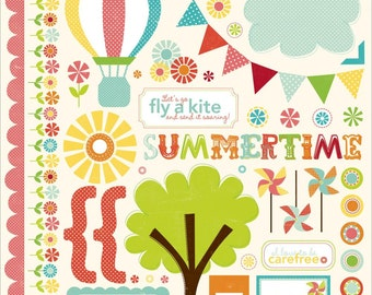 "Echo Park~ Sweet Summertime Cardstock Stickers 12""X12""~Element"