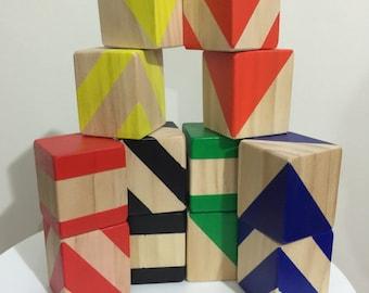 Littke Man Set - Set of 12 Large Blocks