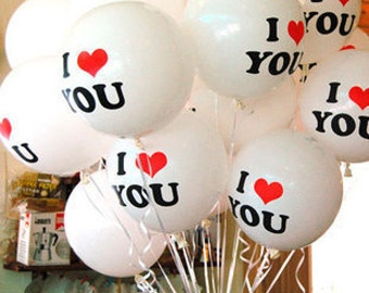"""Wedding supplies Valentine's Day marriage proposal I LOVE U Latex Balloon 12"""" - (Price for 1set w/ 10pcs or 20pcs)"""
