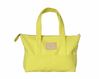 Lemon yellow Beach bag