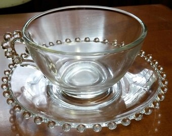 Vintage Imperial Candlewick Cup and Saucer