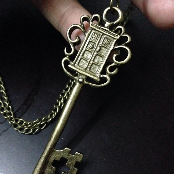 Police box key jewelry inspired and the tardis necklace for Jewelry box with key