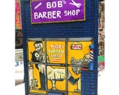 Barbershop Box Painting