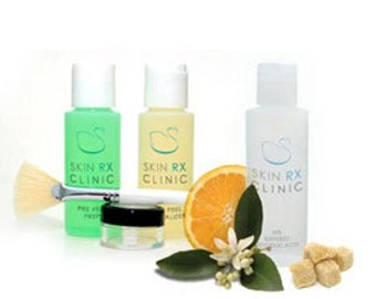 Glycolic Peel Kit 2 oz:  40% Glycolic Peel, Pre-Peel Prep, Post Peel Solution,  Applicator Brush, & Dish in a Zip Bag