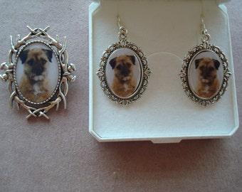 Border Terrier Jewllery. Pendant, Earrings, Brooches  NEW